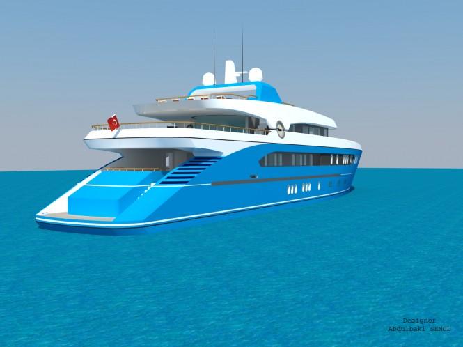 55m Senol Sport Yacht Design - aft view