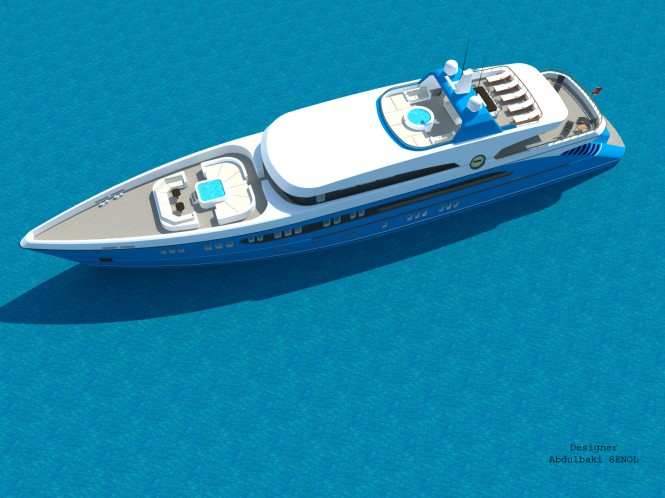 55m Senol Superyacht Concept - view from above