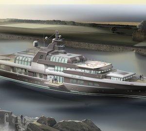 72m motor yacht OCEAN ATRIUM design concept by LP Design Ltd UK