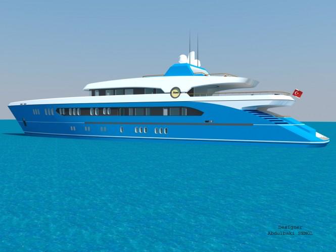 Latest 55m Sport Yacht Design by Senol Abdulbaki