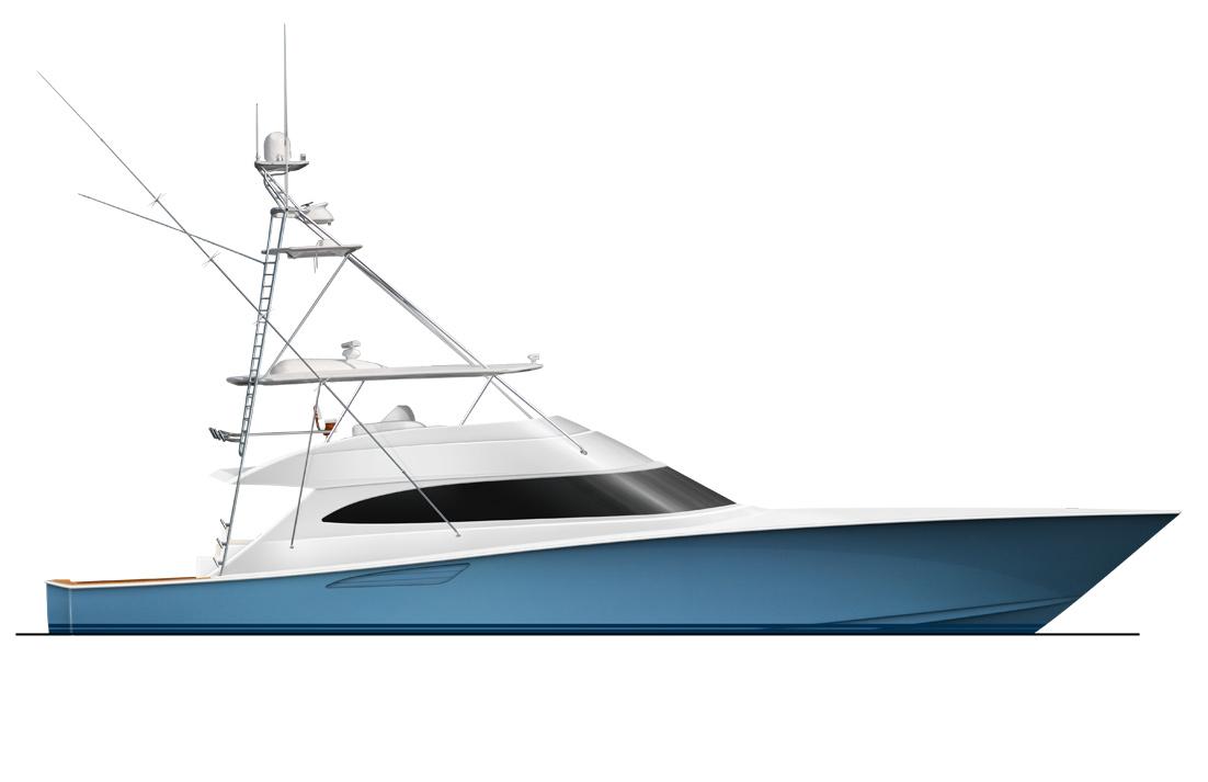 Art Line Yacht Design : Latest viking convertible yacht — charter