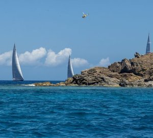 Loro Piana Caribbean Superyacht Regatta 2013: Day 2 - Luxury yachts CAPE ARROW and ATHOS leading