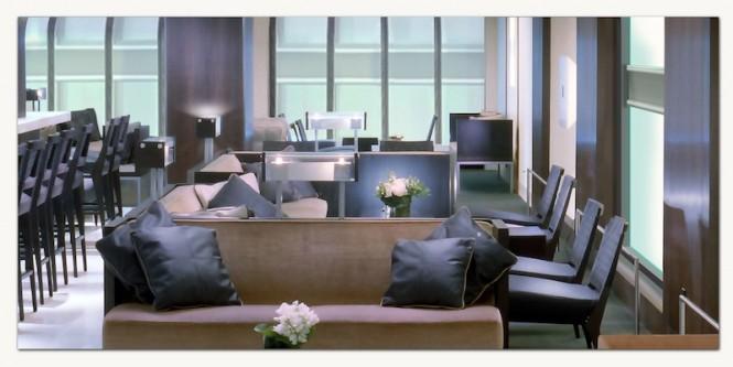 Luxury mega yacht Ocean Atrium design concept by LP Design - lounge