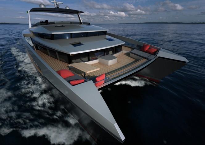 Luxury power catamaran yacht Panama 62' concept © Absolute 2001 Alu Marine