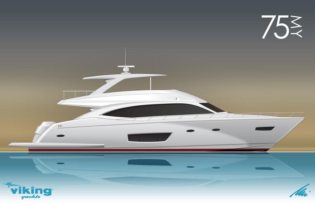 New Viking 75 Yacht by Viking Yachts