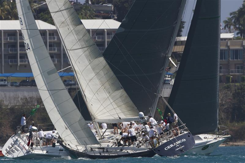 Sailing yachts Ceramco and Maximizer - Photo by STYC Ingrid Abery