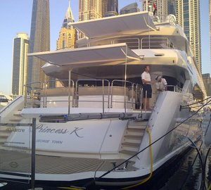Sunseeker attended Dubai Boat Show 2013 with 40M Yacht PRINCESS K on display