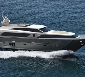 26m motor yacht Continental III Flybridge in build at Wim van der Valk