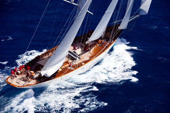 55,5m superyacht Adela - Image courtesy of Pendennis