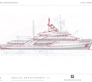 NEWCRUISE enters 59m survey vessel conversion design challenge by ICON Yachts