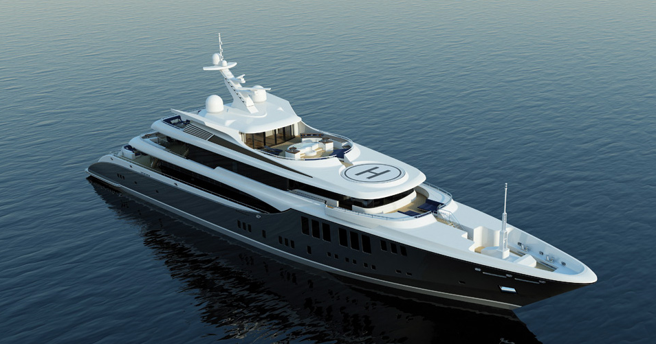 73m motor yacht Odessa II (Project 423) with exterior by