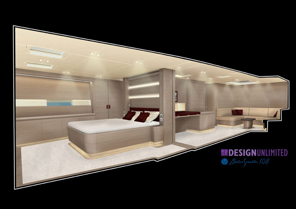 Baltic 108 Yacht WINWIN - Interior by Design Unlimited