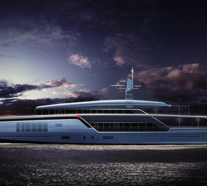 Latest 70m mega yacht ASCHERA concept by motion code: blue