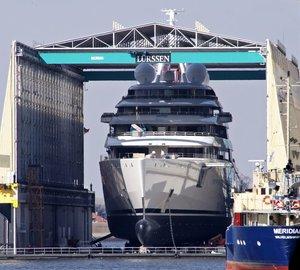 Lurssen launch mega yacht Project AZZAM - largest superyacht in the world