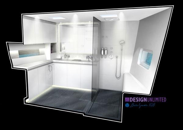 Luxury superyacht WinWin - Interior by Design Unlimited