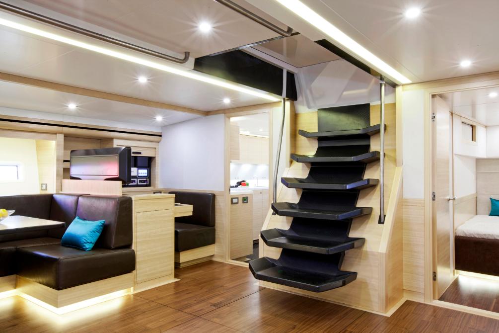 Luxury yacht Hamilton - Salon