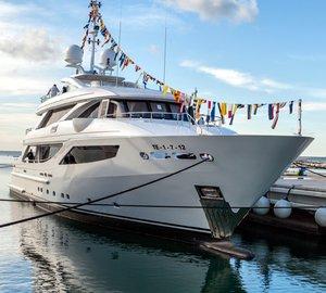 ISA launch 41m luxury yacht AZIZA