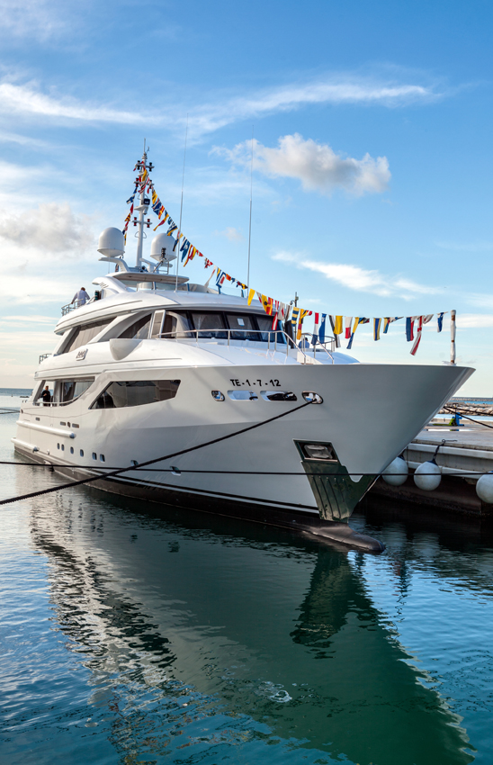 Motor yacht Azziza launched at ISA - Photo by Zitti