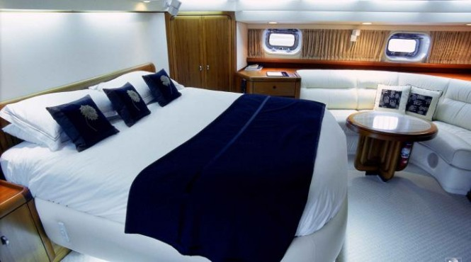 Pacific Eagle charter yacht - Master cabin