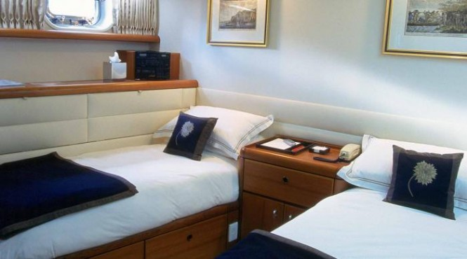 Pacific Eagle yacht - twin cabin