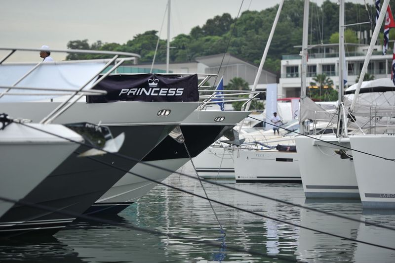 Princess Yachts at the Singapore Yacht Show 2013