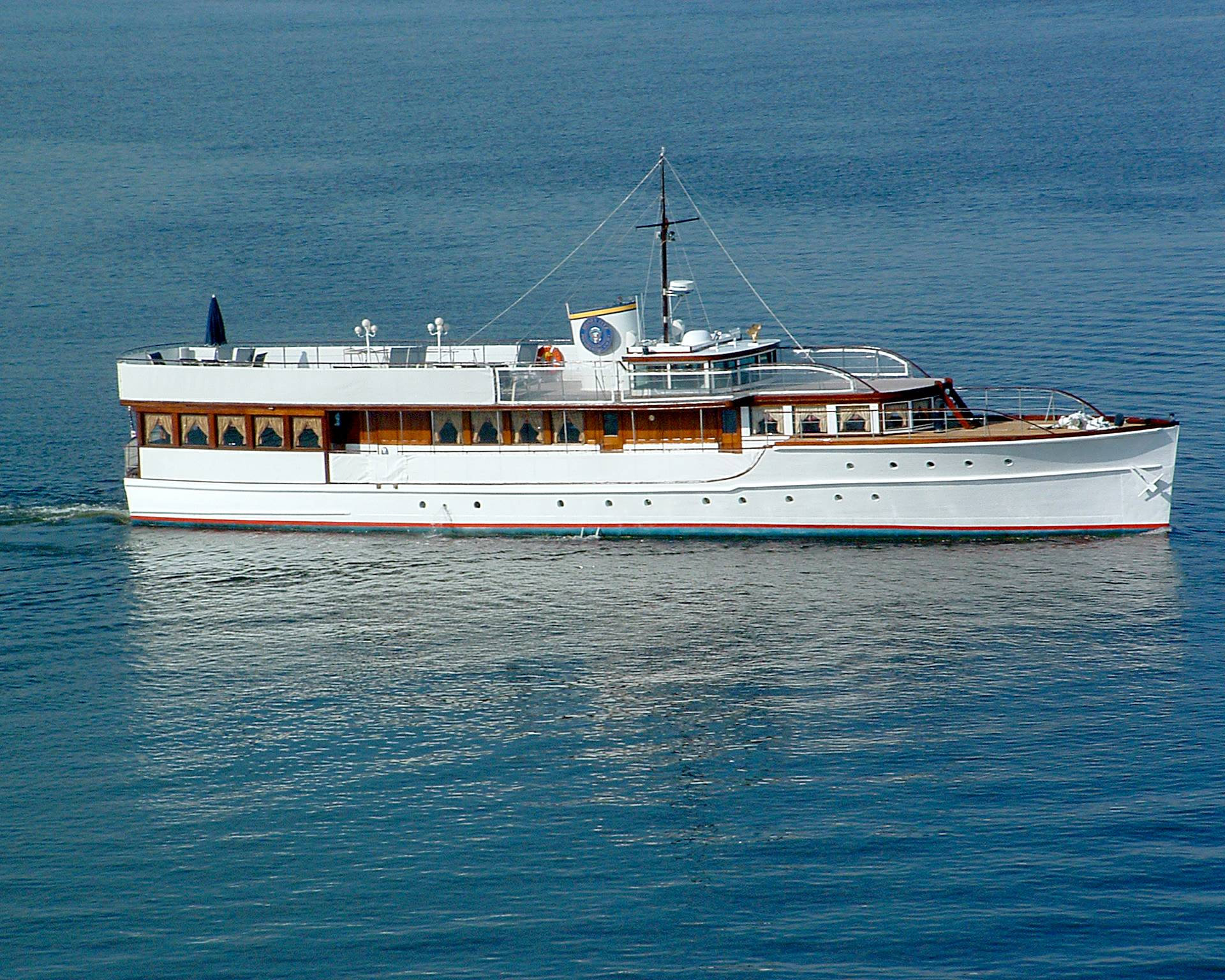 Restored 1931 Defoe wooden yacht Honey Fitz