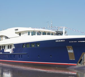 Russian MSSZ shipyard launch motor yacht Project TM47-2
