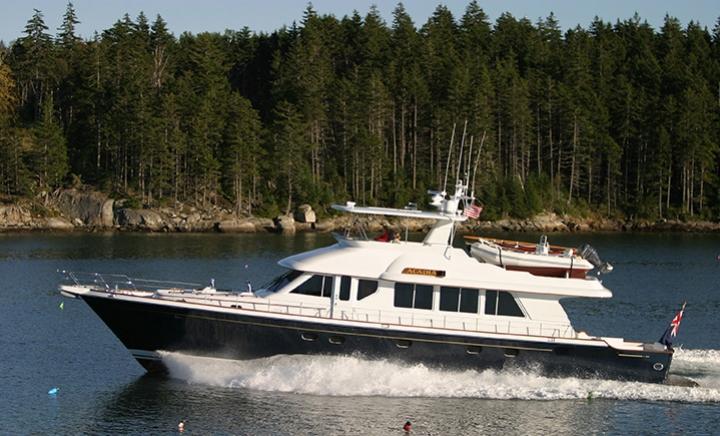 26m Lyman Morse motor yacht Acasia designed by Setzer Photo by billy Black