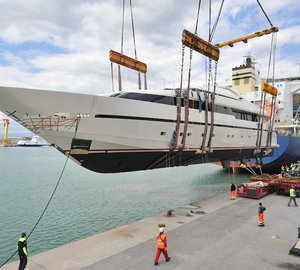 Sanlorenzo launch 40Alloy motor yacht LILIYA - one of three yachts launched this week