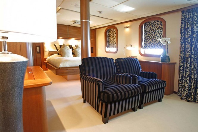 Accommodation aboard Sherakhan yacht