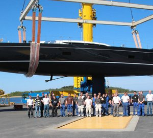 Launch of Baltic 107 sailing yacht INUKSHUK designed by German Frers