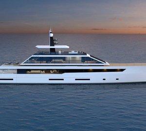 Latest 55m motor yacht QUARTZ concept by Luiz de Basto