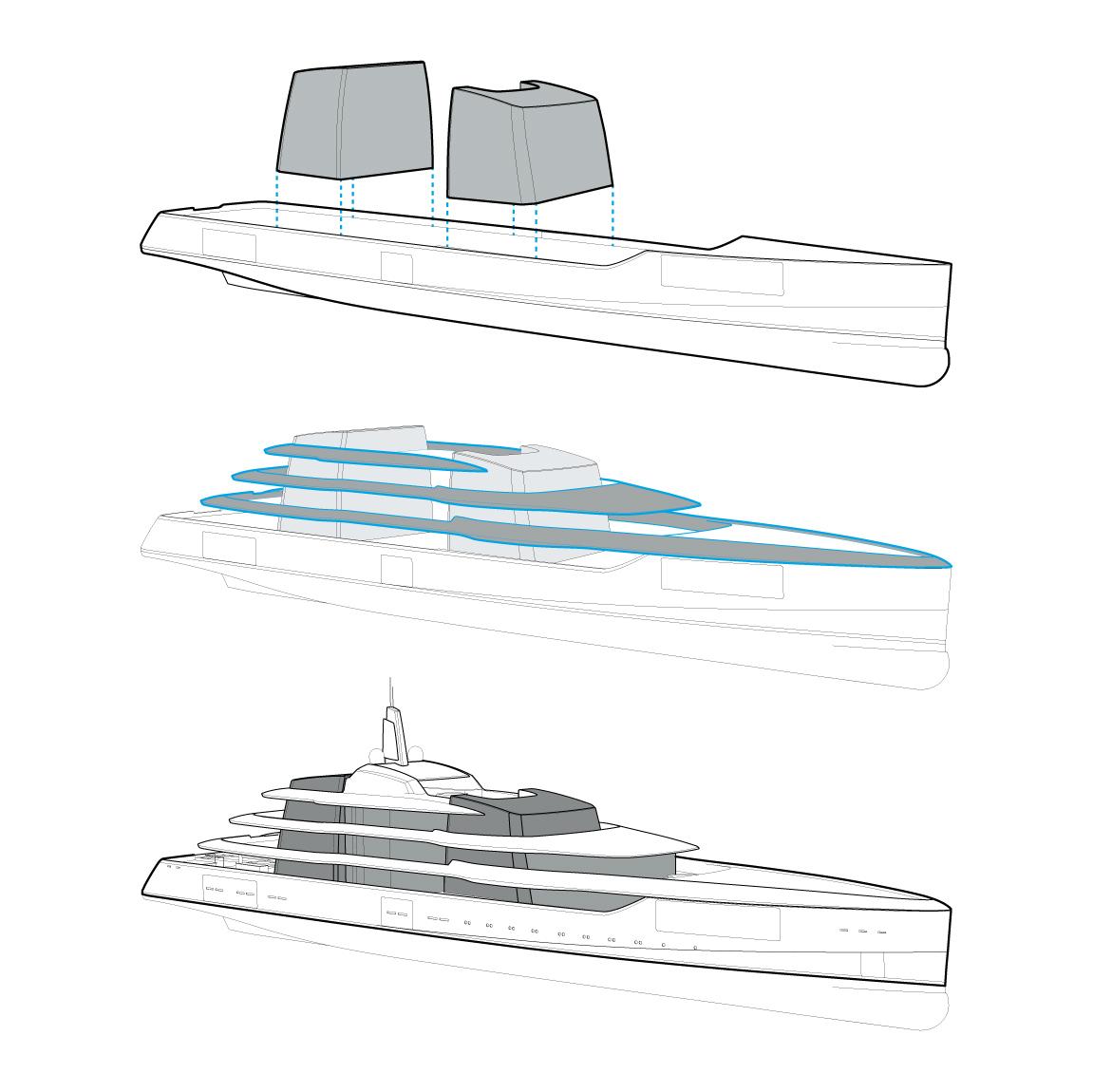 Latest 92m Project Lumen Yacht by Adam Voorhees - Diagram