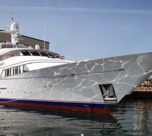 Sea trials for charter yacht TELEOST refitted by Pendennis