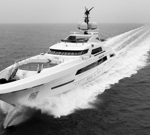 Successful sea trials for GALACTICA STAR Yacht with Fast Displacement Hull Form by Van Oossanen
