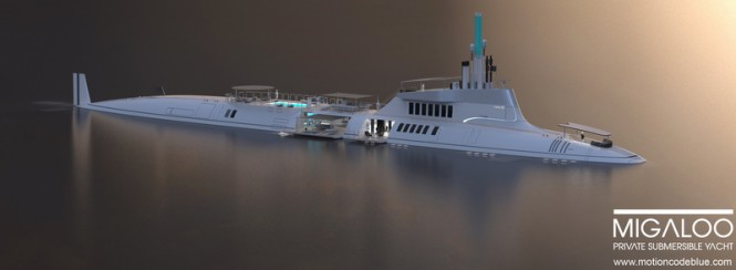 Luxury submersible superyacht MIGALOO concept