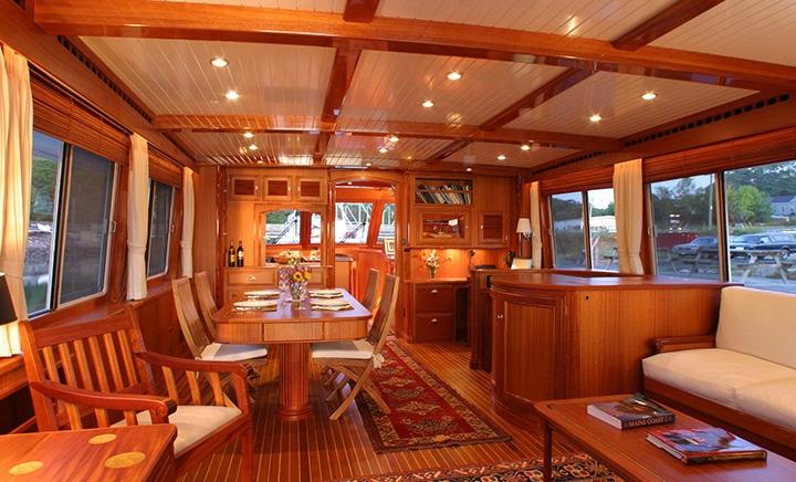 Luxury yacht Acadia - Saloon Photo by Billy Black