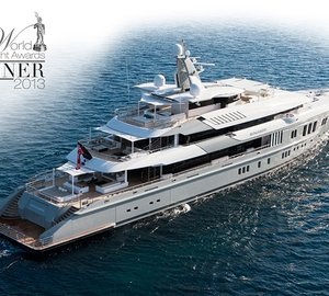 World Superyacht Award 2013 for 74m Nobiskrug mega yacht MOGAMBO