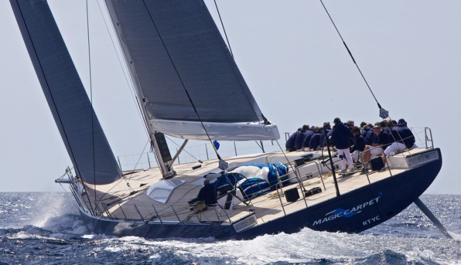 One of the 2013 Southern Spars projects - WallyCento superyacht Magic Carpet 3 - Photo by J. Renedo
