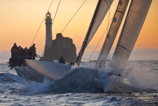 Niklas Zennström's 72' mini maxi Rán 2 is hoping to win the Rolex Fastnet Race for an unprecedented third time in a row Credit: Rolex/Carlo Borlenghi