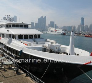 Photos of recently completed 50m motor yacht TIGER SHARK by Qingdao Huaao Marine Manufacturing