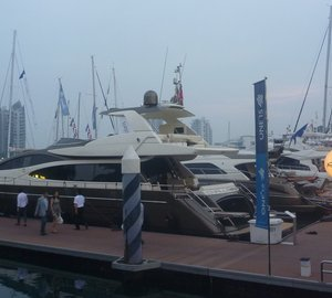 Riva 75' Venere Super Yacht displayed at Singapore Yacht Show 2013