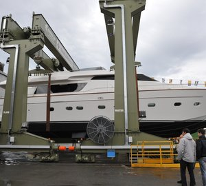 Sanlorenzo launch SL82 motor yacht Pioppi - one of three yachts launched this week