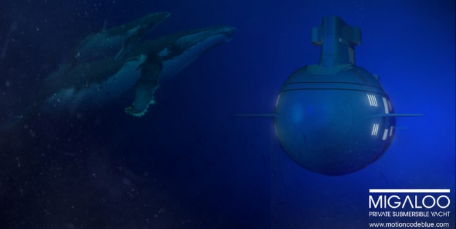 Submersible superyacht MIGALOO concept