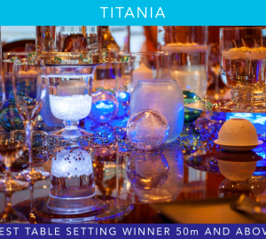 Zyanya Sebastian of Charter Yacht TITANIA wins 'Best Table Setting' for 50m+ yachts