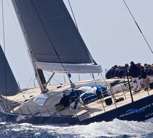All-new WallyCento sailing yacht MAGIC CARPET3 makes her debut at Gaastra Palmavela regatta