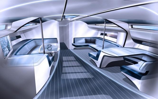 Infiniti 100S Yacht - Saloon Forward