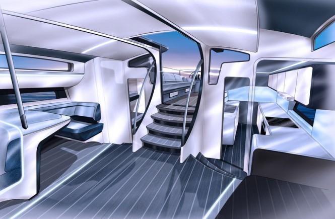 Luxury yacht Infiniti 100S - Saloon Aft