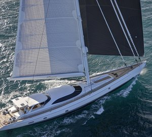 Sailing shots of newly delivered AY45 Yacht ENCORE by Alloy Yachts