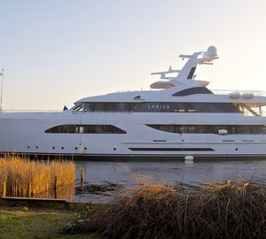 New 57,6m motor yacht LARISA delivered by Feadship